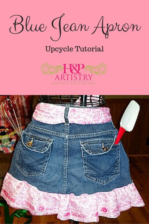 Blue Jean Apron UpCycle tutorial from H&P Artistry