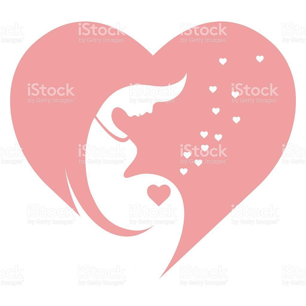 Pregnant Woman Stylized Vector Symbol Royalty Free Stock Vector Art