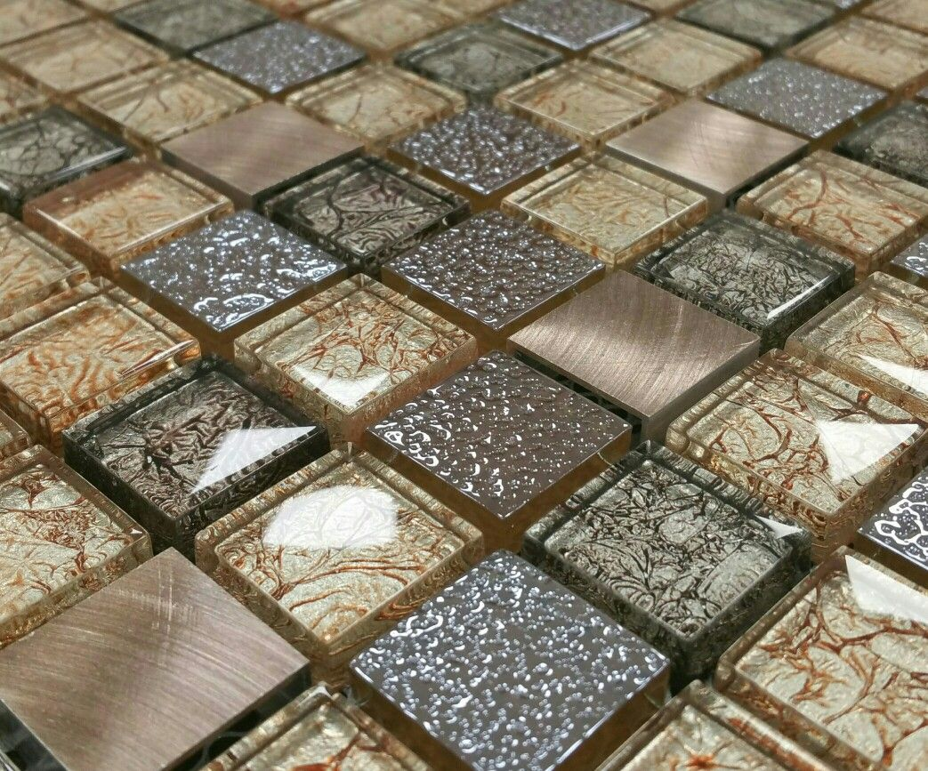 2 3x2 3 Cm Fossil Metal Copper Mosaic Copper Mosaic Wall And Floor Tiles Porcelain Wall Tile