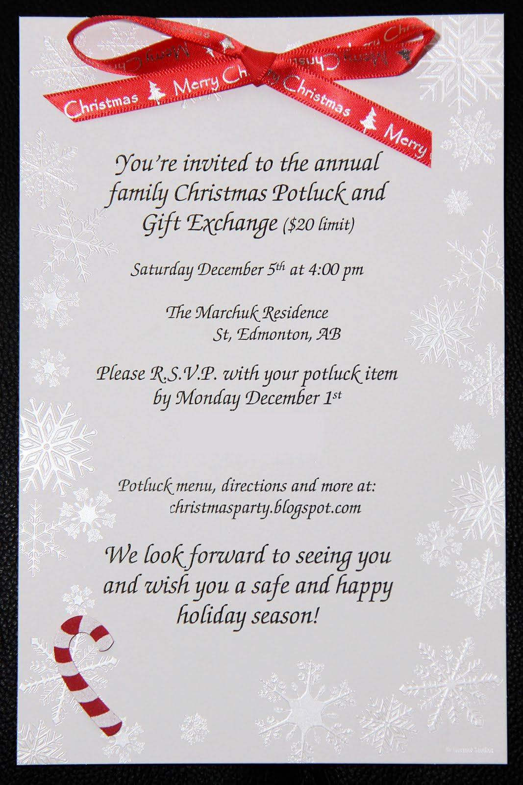 family christmas party invitation | Project 365: Christmas Party ...