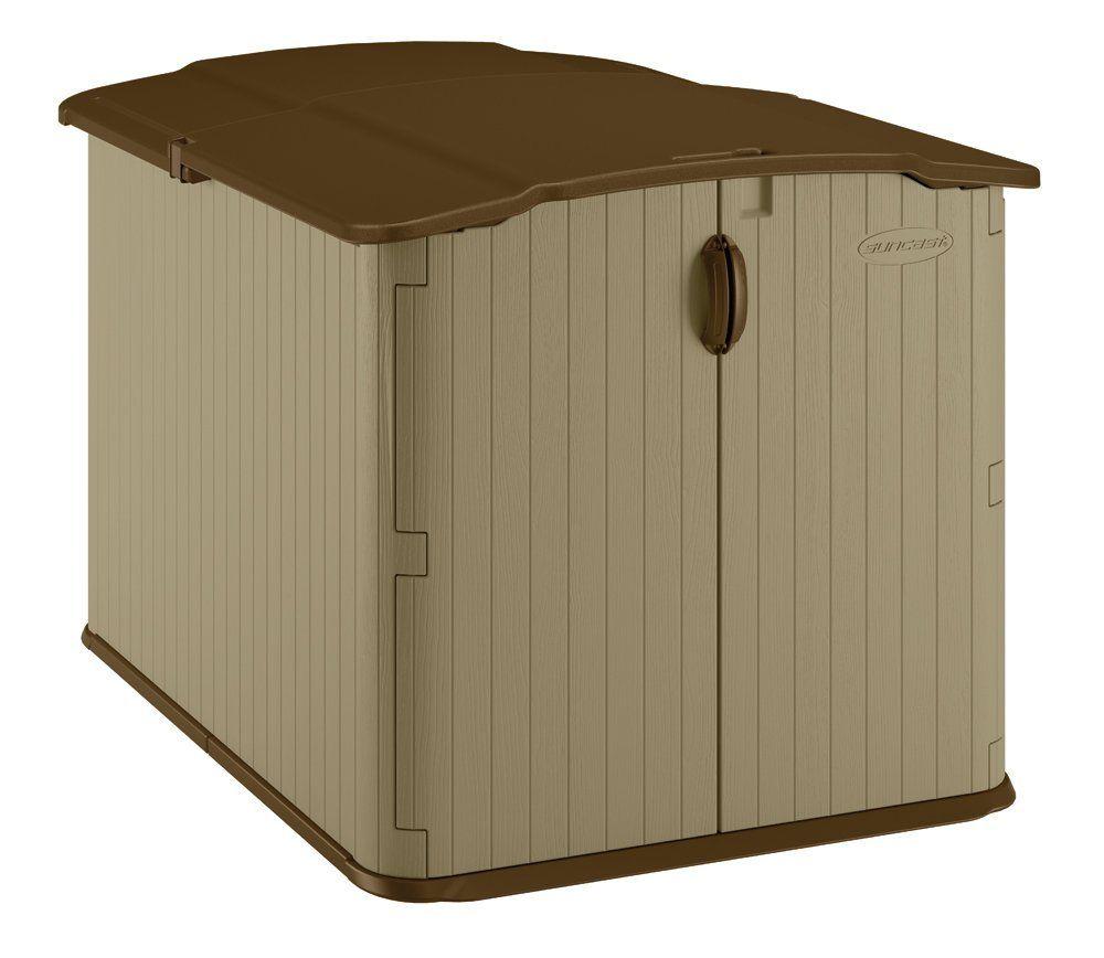Amazon.com : Suncast BMS4900D Glidetop Slide Lid Shed : Storage Sheds :  Patio,