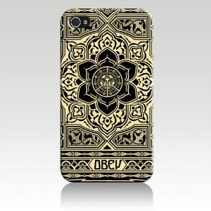 Obey Peace and Justice Ornament Hard Case Cover Skin for Iphone 4 4s Iphone4 At Sprint Verizon Retail Packing