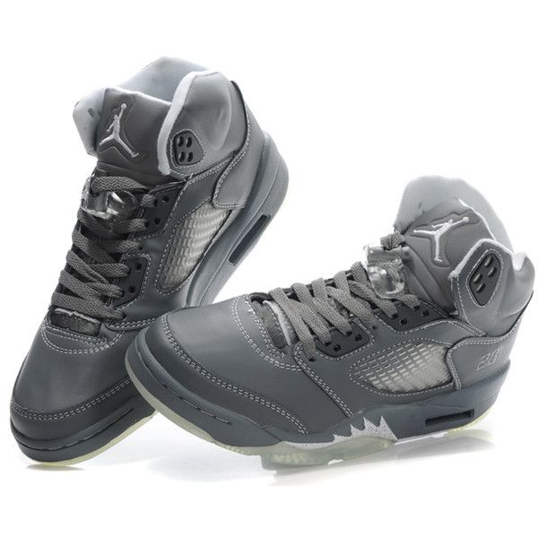 Women Air Jordan 5 Light Graphite White Wolf Grey  liked on Polyvore   MyLife  Pinterest  Graphite Air jordan and Gray