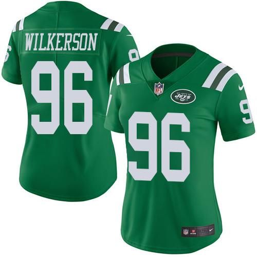 Nike Jets  96 Muhammad Wilkerson Green Women s Stitched NFL Limited Rush  Jersey 5ec58ca31