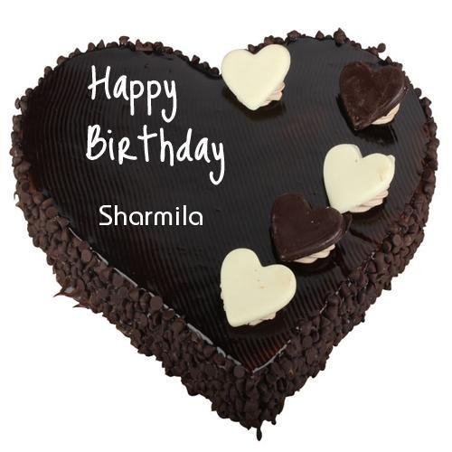 Birthday Wishes Cake Chocolate Heart With Name