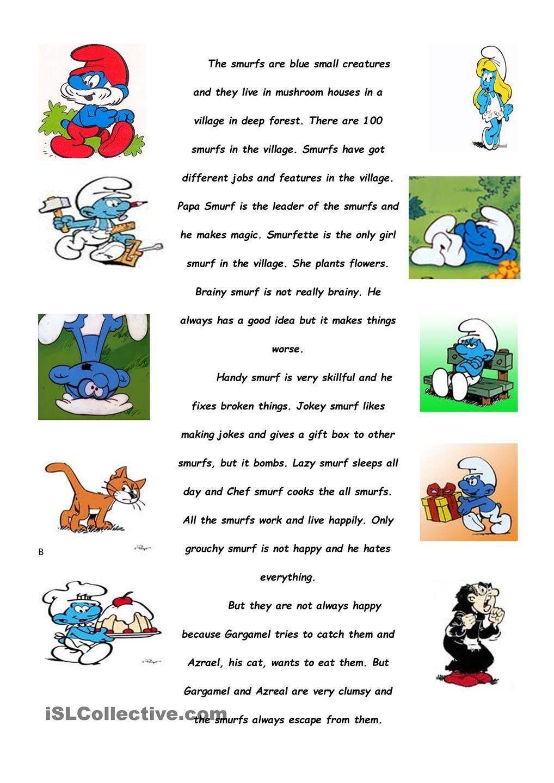 worksheet Subject Verb Agreement Esl Worksheet smurfs present simple worksheets pinterest worksheet free esl printable made by teachers