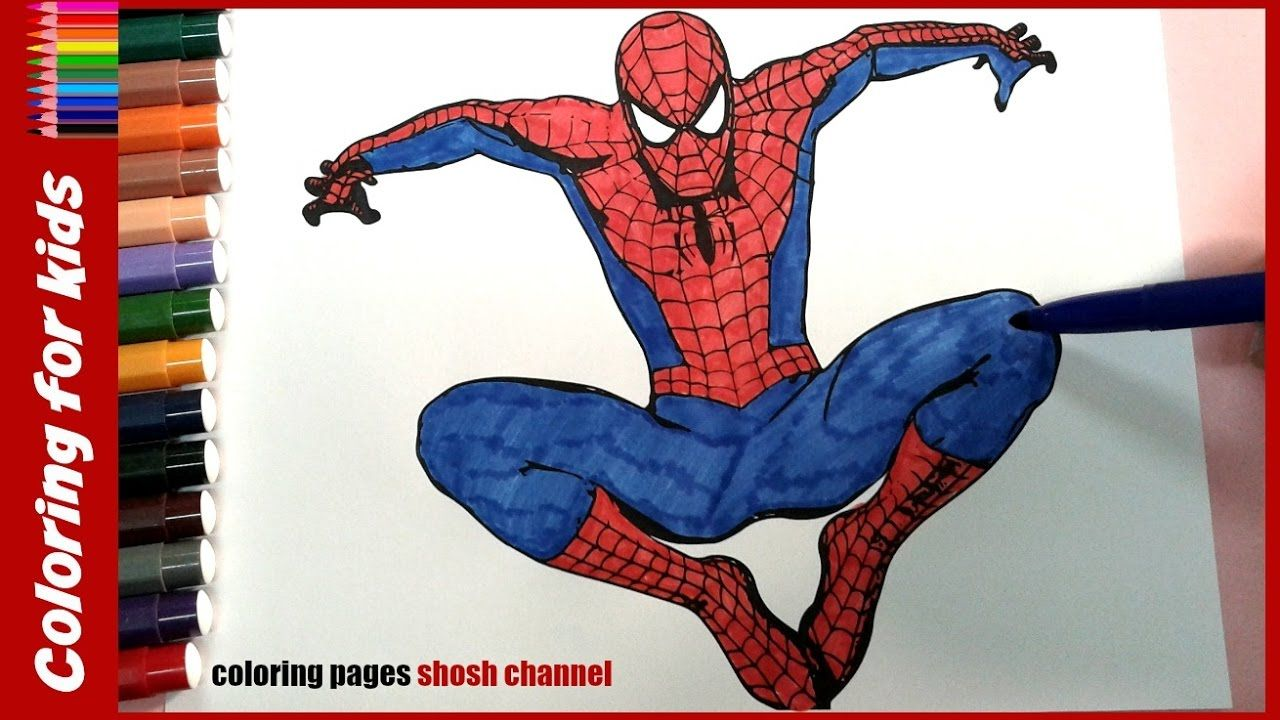 coloring pages for kids spiderman colouring pages from coloring ...