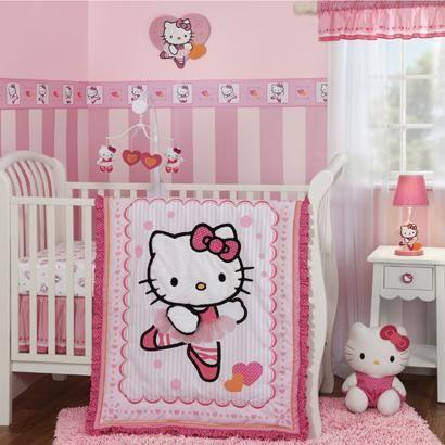 Hello Kitty Ballerina Baby Crib Bedding By Bedtime Originals Pink