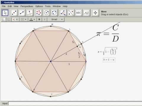 Archimedes Landau finding pi by archimedes method pi maths math