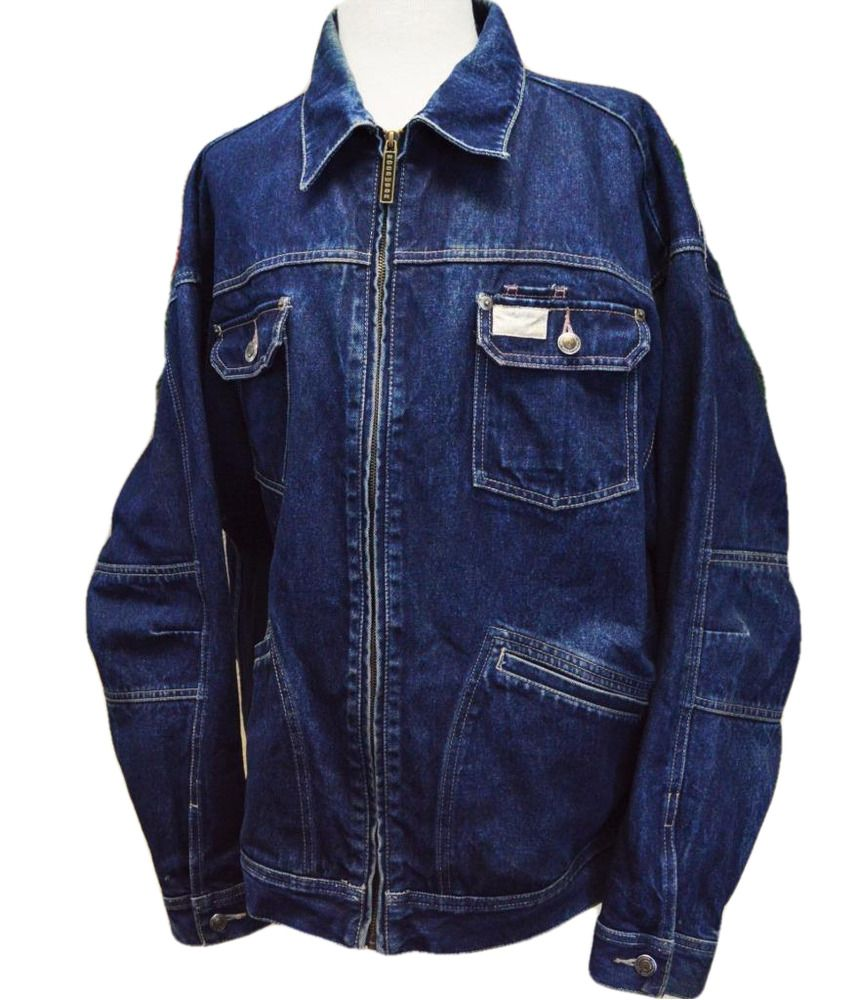 Vtg 90s Rocawear Mens 2xl Spell Out Zip Up Denim Trucker Jacket Cotton Puff Logo Rocawear Jeanjacket Casual Denim Coat Jacket Denim Jacket Rocawear [ 1000 x 856 Pixel ]
