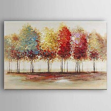 Pintada a mano Paisaje Pinturas de óleo,Modern Un Panel Lienzos Pintura al óleo pintada a colgar For Decoración hogareña 5068468 2016 – $79.49