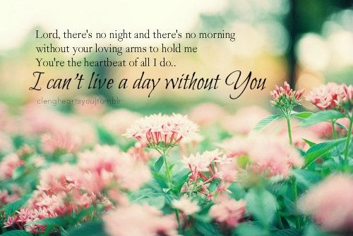 I Cant Live Without You Lord Ssmatters Gorgeous I Cant Live A Day Without You