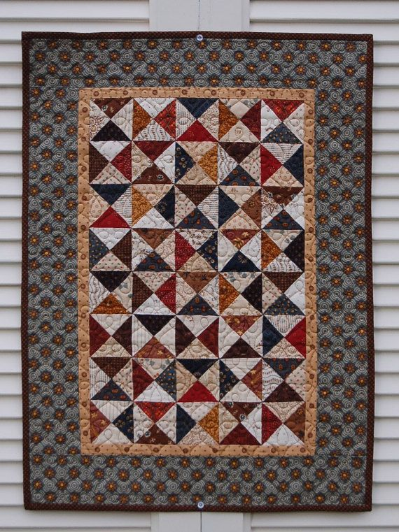 Quilts handmade patchwork quilt for sale by MyCottonandThread ... : doll quilts for sale - Adamdwight.com