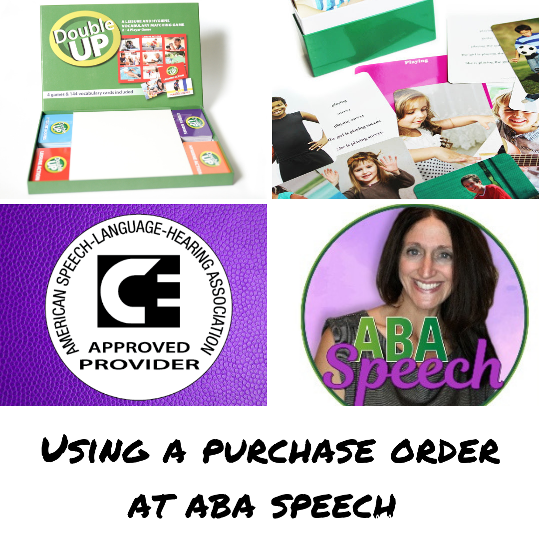 Using A Purchase Order Speech and language, Speech