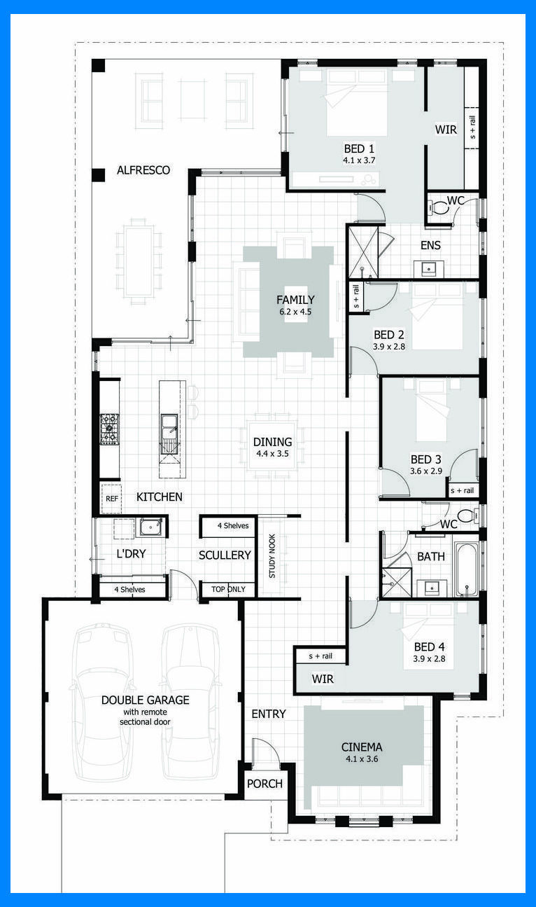 Browse Our Range Of 4 Bedroom House Plans House Layouts 4 Bedroom Living Room Layout Wi Single Storey House Plans 4 Bedroom House Plans Bedroom House Plans