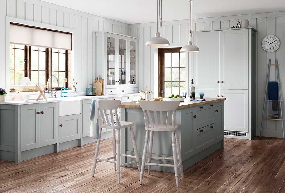 John lewis county collection shaker style english kitchen for Kitchen cabinet english style