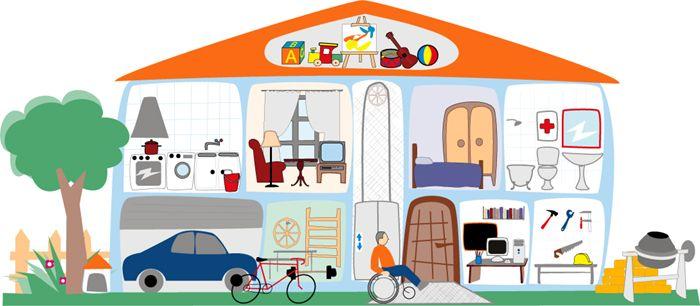 La casa y los muebles: las preposiciones de lugar. Para los ...
