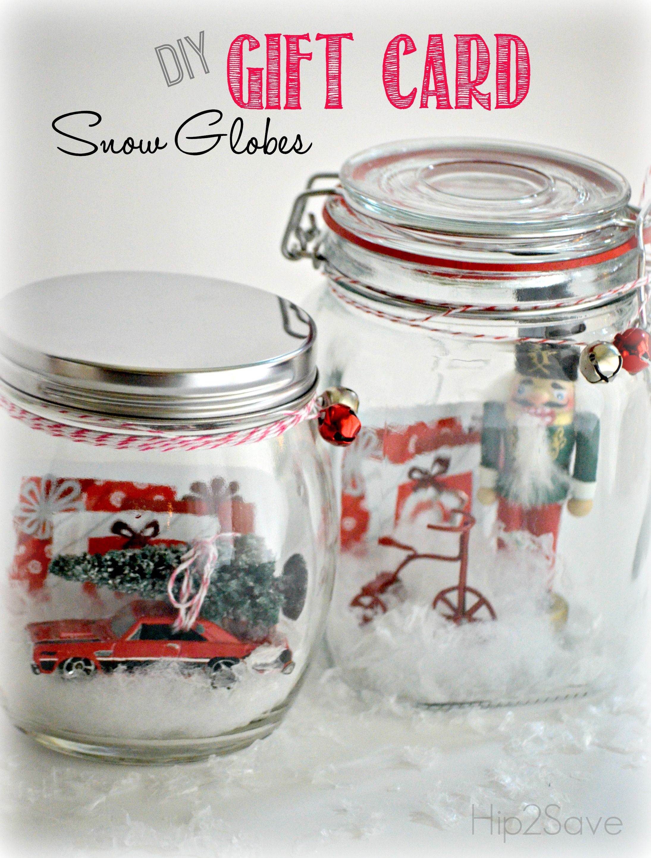 Fun way to give gift cards! Make a snow globe maybe with