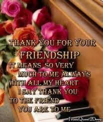 Thank You For Your Friendship Quote Friend Friendship Quote