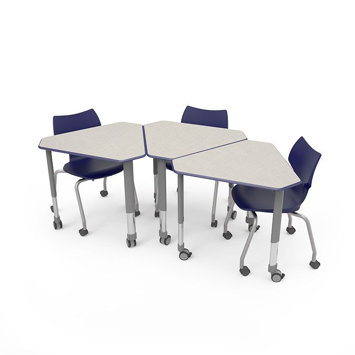 This Versatile Contemporary Desk Designed For Collaborative Learning Provides Sleek Looks And Solid Functionality
