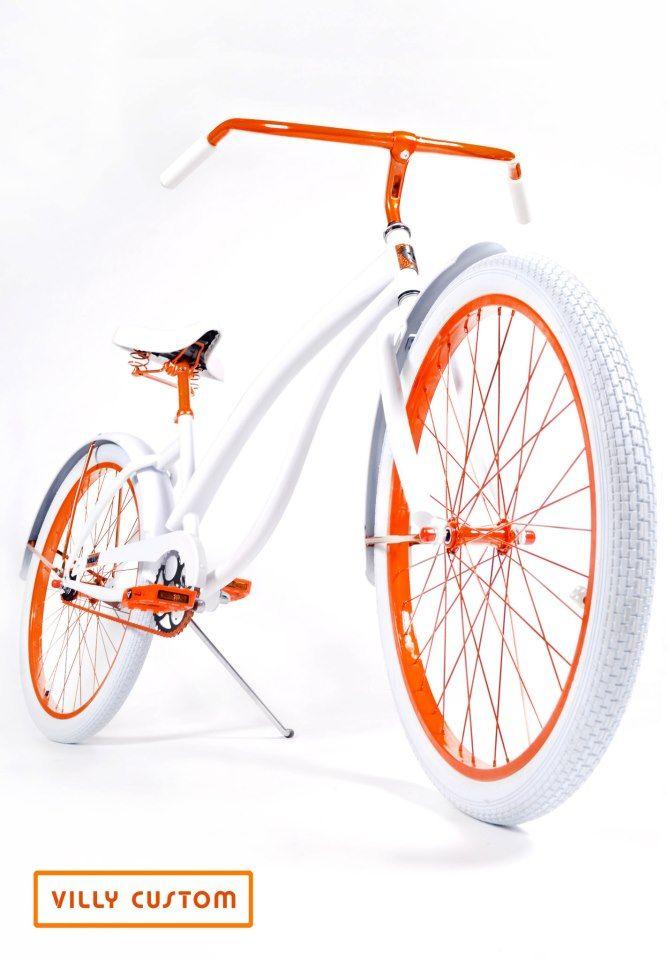 Tangelo Limited Edition Custom Beach Cruiser Bicycle By Villy Custom Www Villycustoms Com Cruiser Bicycle Custom Beach Cruiser Beach Cruiser Bicycle