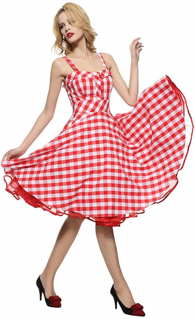 Maggie Tang Women\'s 1950s Vintage Rockabilly Full Circle Swing Party ...