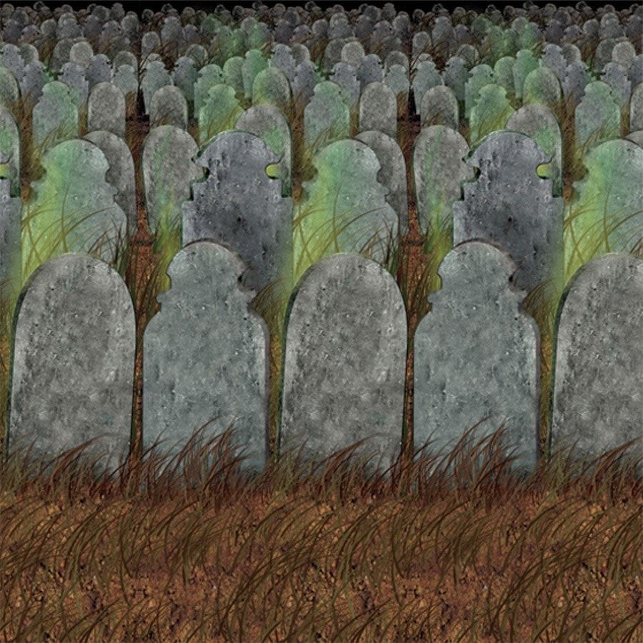 Graveyard Backdrop Graveyards, Backdrops and Spooky halloween - Halloween Graveyard Decorations