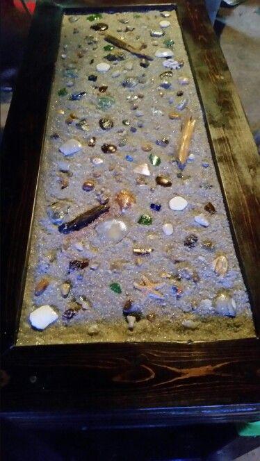 Sea glass table
