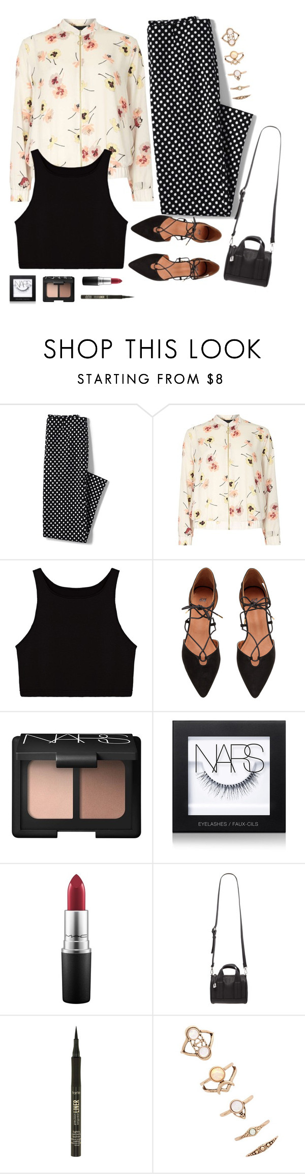 """""""Mixed Patterns"""" by kmeowj ❤ liked on Polyvore featuring Lands' End, Dorothy Perkins, NARS Cosmetics, MAC Cosmetics, Forever 21, tarte and patternmixing"""