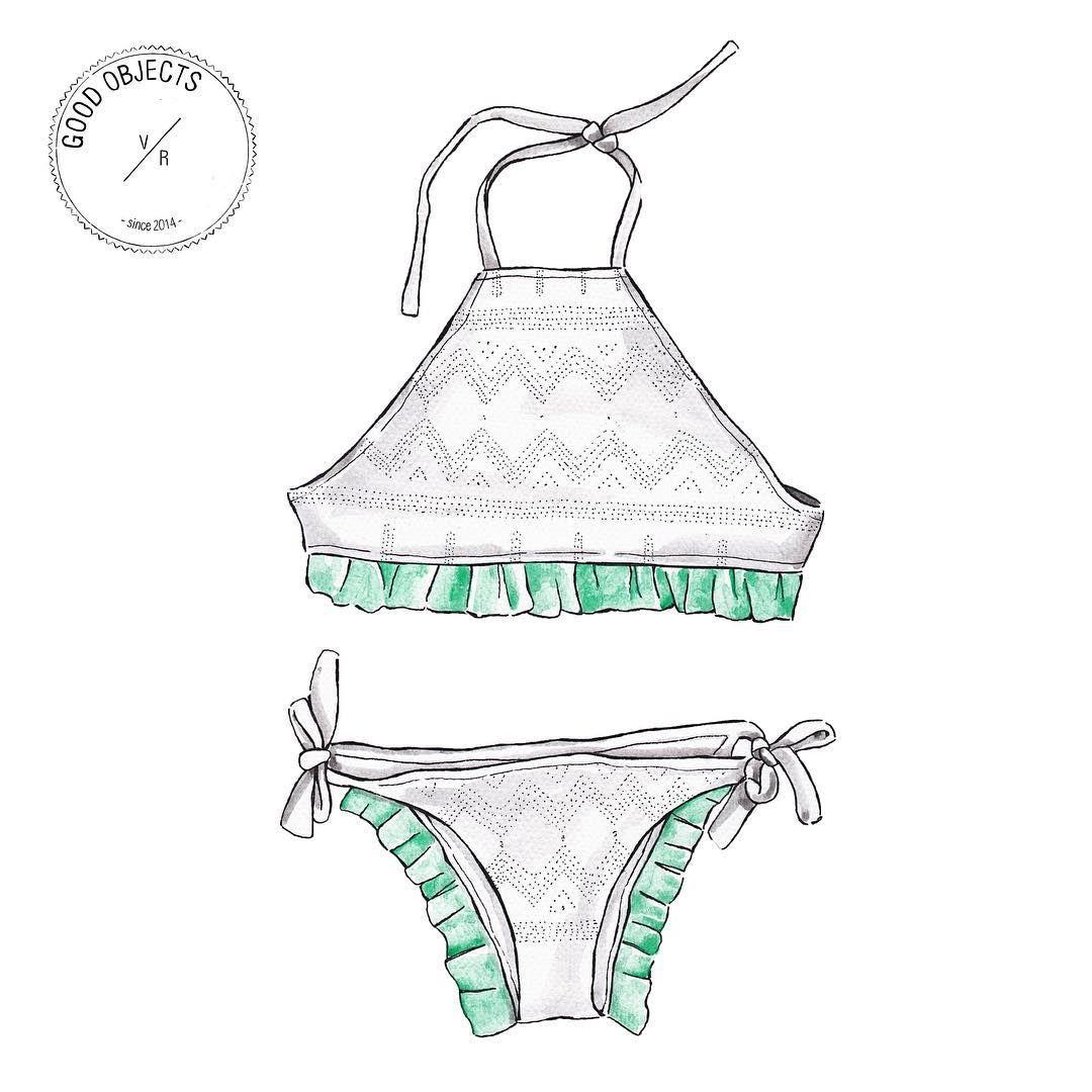 Good Objects Bikini From St Clemente By Sifrina Dibujos De Diseno De Moda Bocetos De Moda Y Figurines De Moda