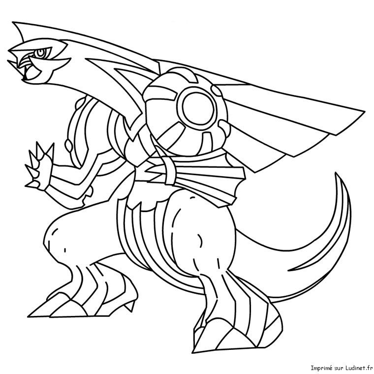 Palkia Coloriage Pokemon Coloriage Pokemon Legendaire Coloriage