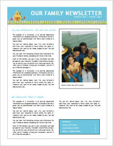 Family Newsletter Download At HttpWwwDoxhubOrgNewsletter
