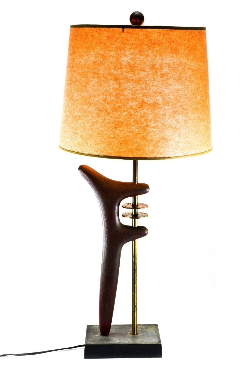 This Br Steel Lamp With Heavy Cast Copper Base And