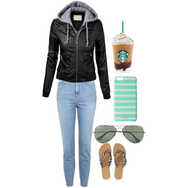 Going out by wuvbug on Polyvore featuring polyvore, fashion, style, Topshop, Aéropostale, Ray-Ban and Kate Spade