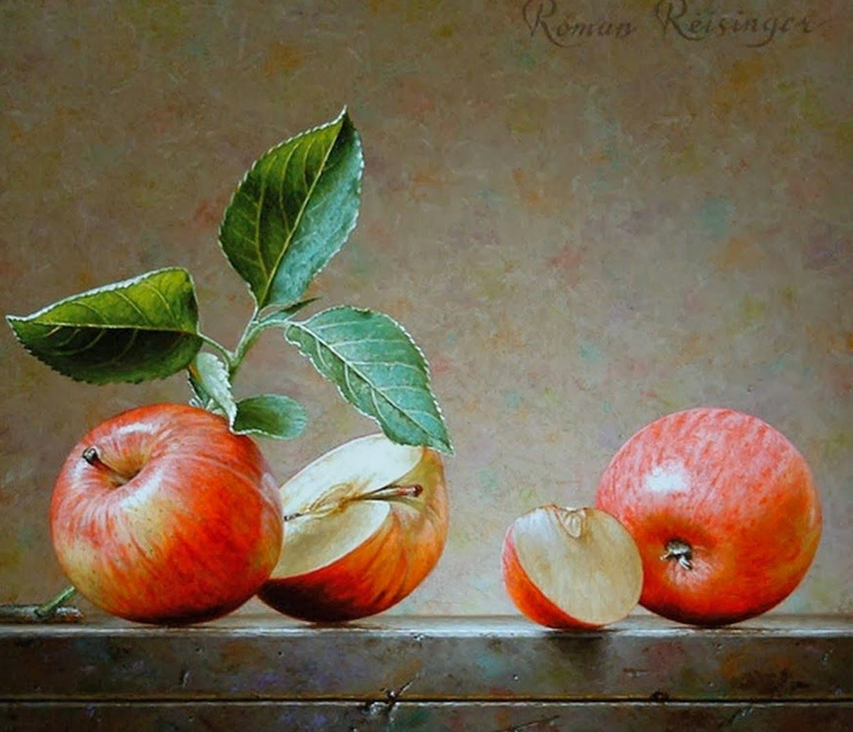 Pintura y fotograf a art stica bodegones de frutas for Cuadros pintados al oleo