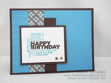 Guy card birthday by dostamping cards and paper crafts at stampin up delightful dozen great masculine card bookmarktalkfo Choice Image