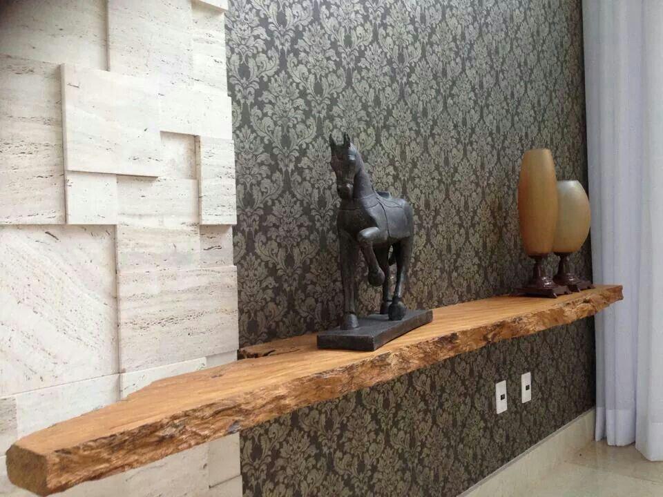 Aparador Rustico Madeira Escultura Parede Textura Decoracao De