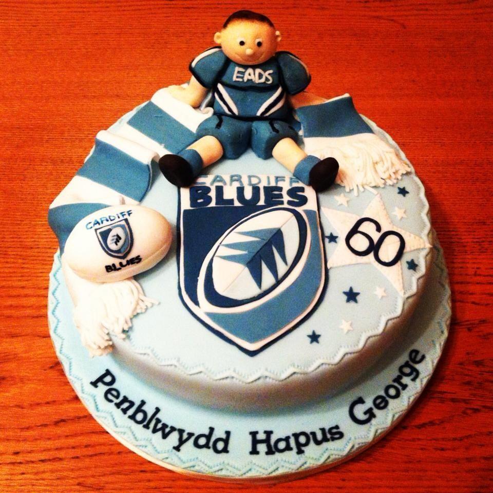 Cardiff Blues. | Blue cakes, How to make cake, Amazing cakes