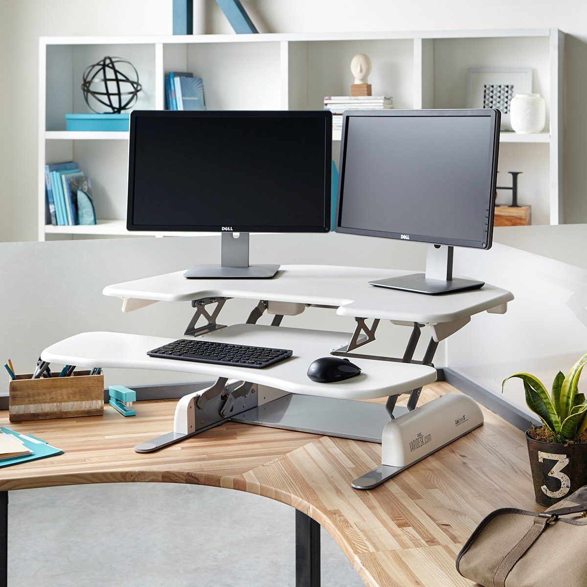 Standing Desk Cube Corner 36 White