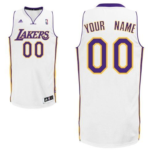 Customized White Adidas NBA Swingman Los Angeles Lakers Quality Fabrics  Alternate Men Jerseys 843e13ada