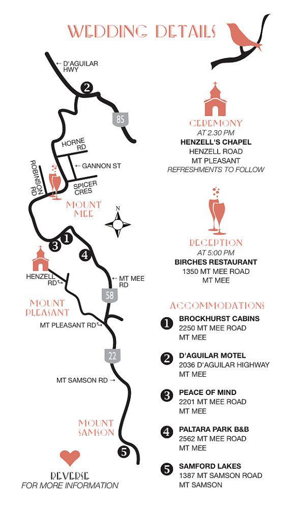 Wedding Map Custom Design / Printable DIY digital PDF