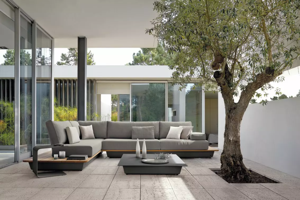Outdoor Modular Sofa Air Concept 5 Lava Aluminium Manutti Lounge Gartenmobel Aussenmobel Outdoor Sofa