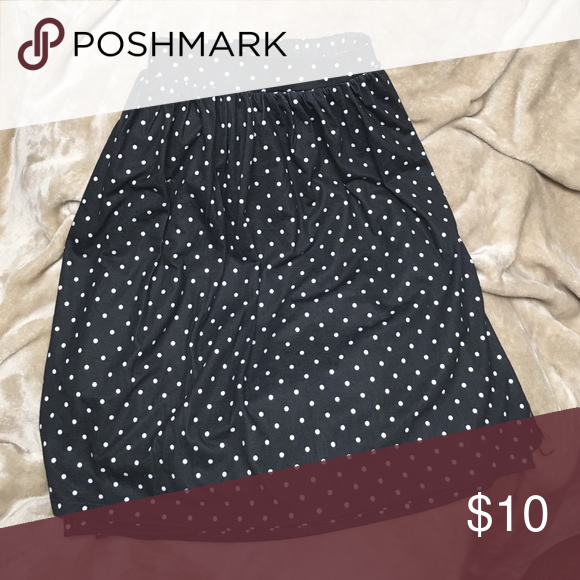 Skirt Black and white polka dot skater skirt! Firm price Skirts Circle & Skater