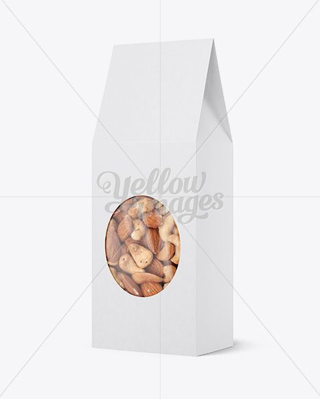 Download Paper Bag W Window Mockup Halfside View In Box Mockups On Yellow Images Object Mockups Glossy Paper Paper Bag Packaging Mockup