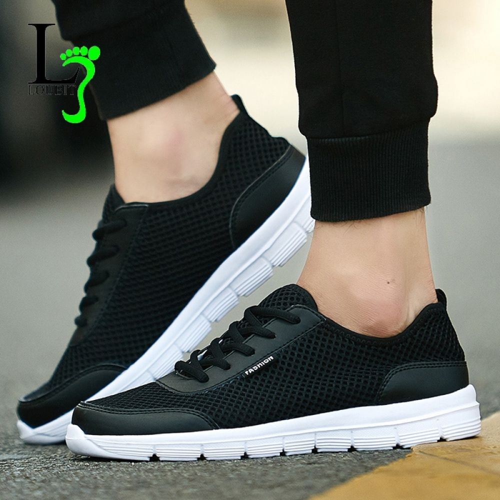 9ab5f7ba64628 Men Shoes 2018 Summer Fashion Sneakers Breathable Casual Shoes Lace Up High  Quality Sneakers Men Mesh