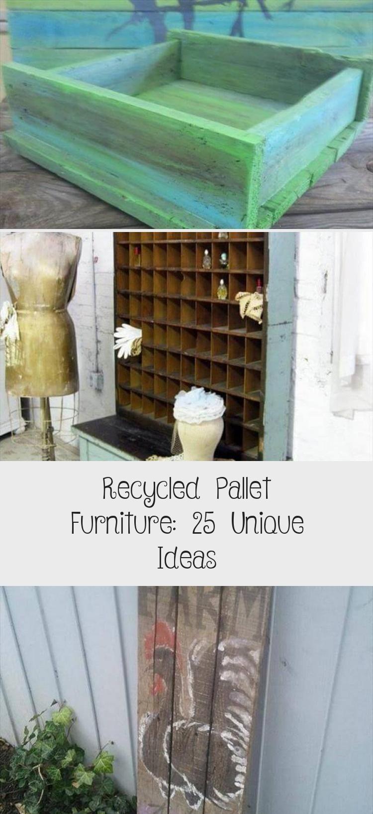 Recycled Pallet Furniture: 25 Unique Ideas - Home Decor ...