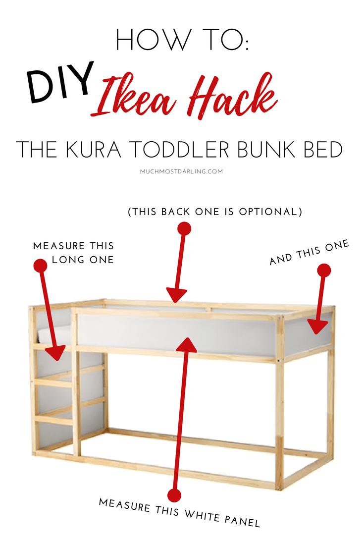 Tiny Box Room Ikea Stuva Loft Bed Making The Most Of: DIY Ikea Hack: KURA Toddler Bunk Bed