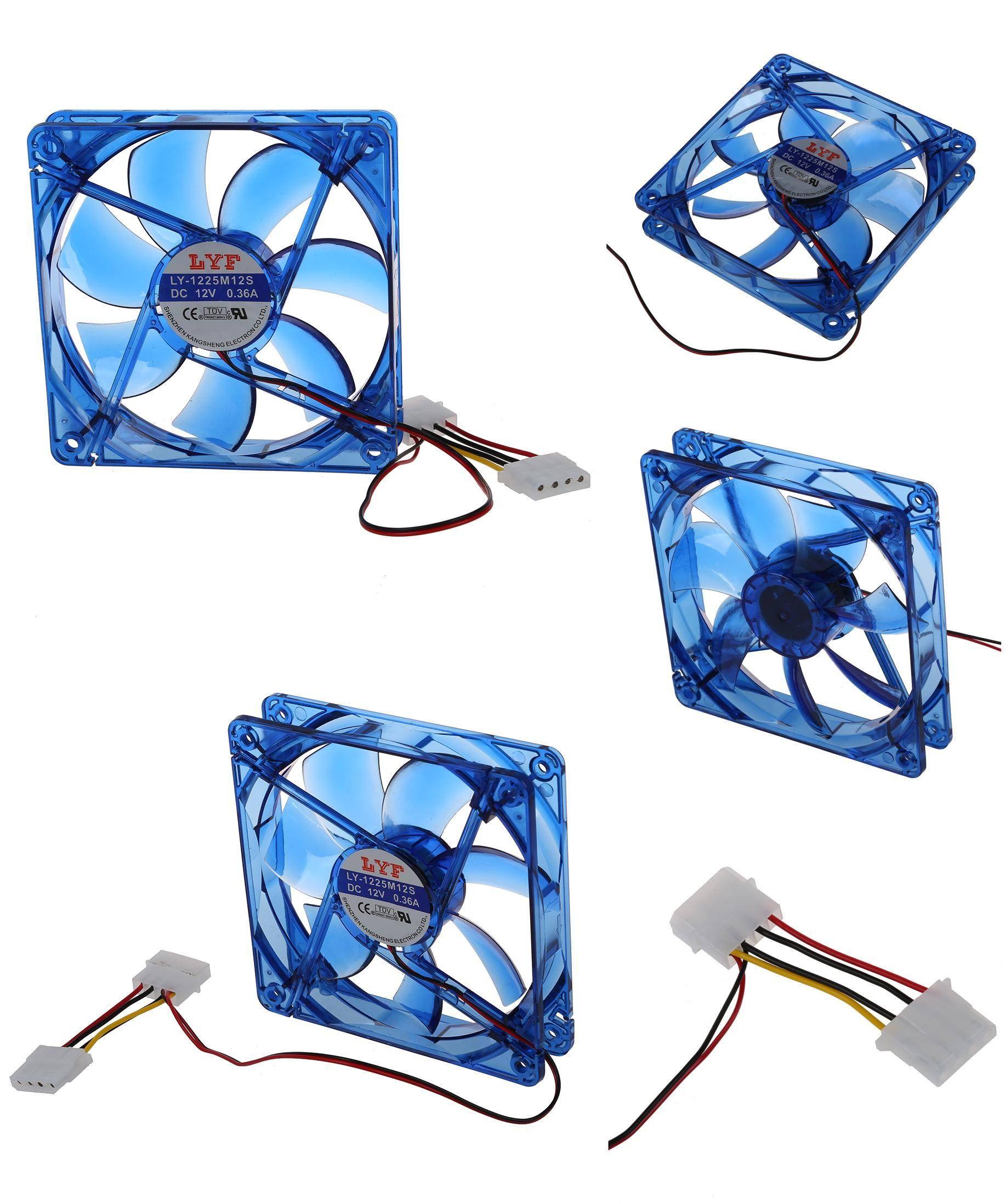 Visit To Buy Dc 12v 4 Pin 4 Blue Led Pc Computer Enclosure Fan 120 X 25 Mm Advertisement Computer Fan Pc Computer Cheap Fans
