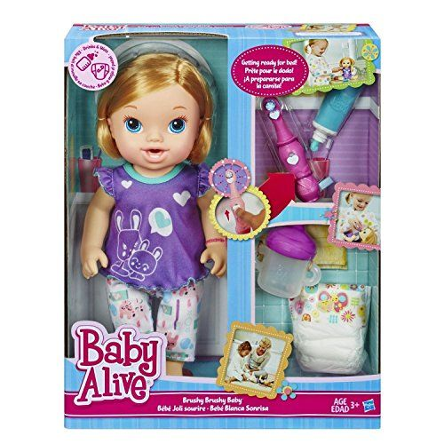 Baby Alive My Baby Brushy Doll Blonde Wets Diaper Bottle Drinks Toothbrush New This Is An Amazon Affiliate Lin Baby Alive Dolls Baby Alive Baby Doll Nursery