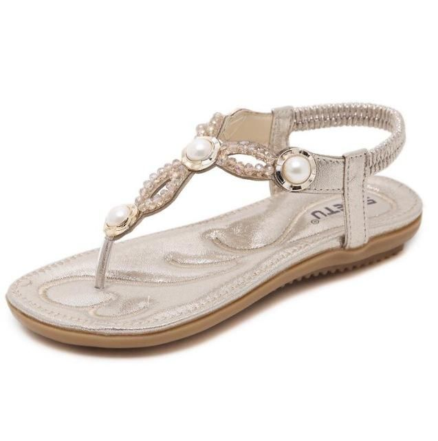 91e3cf8cda3 Beaded Bohemian Clip Toe Sandal. Beaded Bohemian Clip Toe Sandal Cheap  Sandals